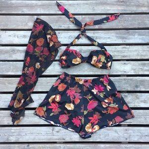 Vintage Jantzen Bikini 3 Piece Swim Suit Size 8